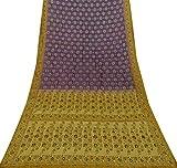 Vintage Ethnische Saree reine Seide gewebt Handwerk Stoff