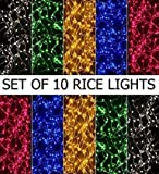 #8: Gesto Led Lights Pack of 10 Led Lights(4-5 m),Multicolor-Heavy Quality Strings Lights.