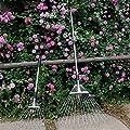 Teleskoprechen aus rostfreiem Stahl Einstellbare Faltblätter Rechen Einstellbare Breite für die schnelle Reinigung von Rasen und Hof