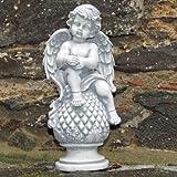 Engelfigur auf Pinie
