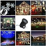 2PCS 4W LED wasserdichter beweglicher Schneeflocke-Scheinwerfer, LED-Weihnachtslicht, dynamische Landschaftsprojektor-Licht-Lampe, Partei-Licht für Feiertag, Garten, Haus Innen- / im Freiendekor und Spaß-Spielwaren für Kinder