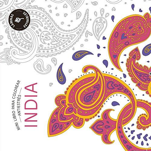 INDIA: Mini libro antiestrés para colorear (PRACTICA) por REDACCION MARABOUT