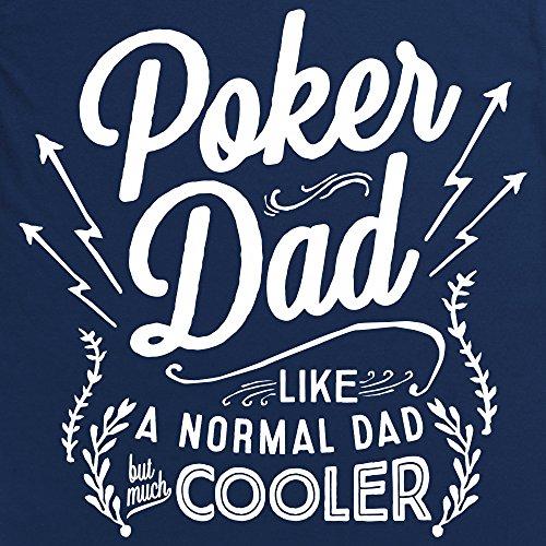 Poker Dad Langarmshirt Funny Novelty Gift, Herren Dunkelblau