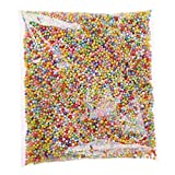 Gluckliy Petites Billes en Polystyrène Perles Micro Balles en Mousse Slime Perles de Slime Ajustement pour la Création de Slime Art DIY Craft Décoration de Fête de Mariage, Coloré, 2.5-3mm