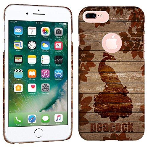 Sublimations-druck-kleid (iPhone 7Plus Fall/iPhone 8Plus Fall-Vintage Pfau Holz Muster Hartplastik Back Cover. Slim Profil Niedlichen Bedruckt Designer-Schutzhülle Zum Aufstecken von Glisten)