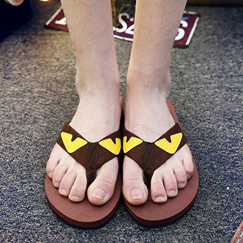 pantoufles hommes d'été, tongs, les couples d'hommes, pieds antidérapants, chaussures de plage, pantoufles occasionnels brown