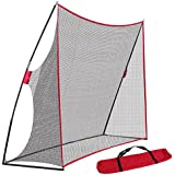 Smartxchoices Golf Hitting Net Golf Pitching Hitting Practice Driving Net w/ Carry Bag for Backyard/Indoor/Outdoor 10x7ft