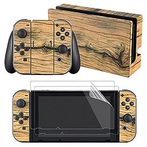 eXtremeRate Nintendo Switch Sticker Skin Folie Abziehbild Aufkleber Faceplates Decal Klebefolie mit 2 Displayschutzfolie für Nintendo Switch Console&Joy-Con&Dock&Grip