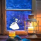 ilka parey wandtattoo-welt® Fensterbild Weihnachten selbstklebend Fensterdeko Weihnachtsdeko Sterne Prinzessin Cinderella weiß M1233