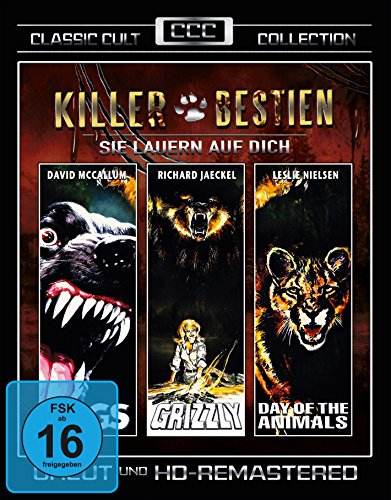Killer Bestien - Sie lauern auf Dich (Dogs - Grizzly - Day of the Animals) - Classic-Cult-Edition(3 DVDs) (Cujo Film-dvd)