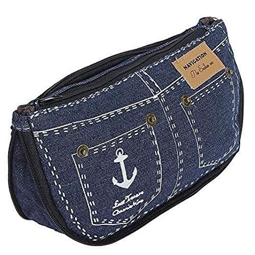Bonito estuche corto estilo vaquero bolso cambiador cartera