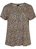 Zizzi EVIOLA Damen T-Shirt Basic Kurzarm Rundhalsausschnitt, Große Größen 42-56