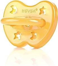 """Hevea Schnuller BPA-frei """"Stern & Mond"""" (anatomisch, 0-3)"""