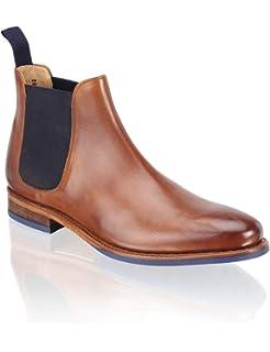 cdc9578d9ab538 Cox Herren Chelsea-Boots in Braun aus Leder