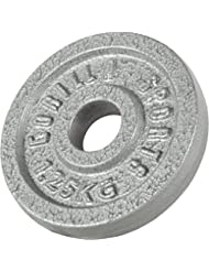 Gorilla Sports Hantelscheibe Gusseisen 0,5-30 KG - Hantelscheiben, Gewichte für Fitness, Bodybuilding, Krafttraining