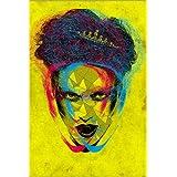 Cuadro sobre lienzo 70 x 110 cm: Sweet Psychedelic Wishes de LucyDyerArt - cuadro terminado, cuadro sobre bastidor, lámina terminada sobre lienzo auténtico, impresión en lienzo