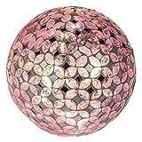 Formano Mosaikkugel mit LED-Licht, 15 cm, rosa