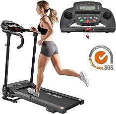 Merax Elektrisches Klappbarer Laufband Fitnessgerät Heimtrainer verstaubar kompakt mit LCD-Display Tablethalterung