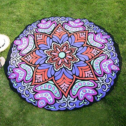 Wandteppiche Achteckige Blume druckt rund Home Hängenden Tuch Dekoration Mode Schal Yogamatten Outdoor-Teppich , 002