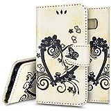 Ukayfe Custodia Case Cover per Galaxy S8, 3D Design Modello Slim Folio Protectiva PU Leather Portafoglio Cover con Sottile Morbido TPU Interno Case Copertura per Samsung Galaxy S8-Bianco 1#