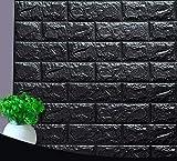Papier peint autocollant 3D effet pierre - Résistant à l'eau - En PVC - 77 cm x 70 cm