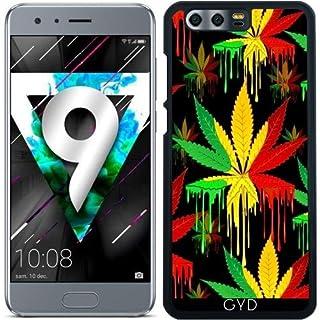 DesignedByIndependentArtists Case for Huawei Honor 9 - Marijuana Leaf Rasta Colors by BluedarkArt