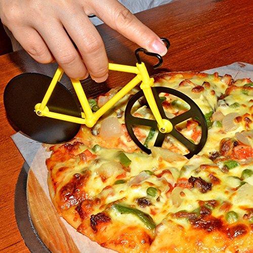 Duomishu-Pizza-Cutter-Pizzaschneider-Fahrrad-Formen-Sharp-schwarz-antihaften-Klinge-duale-Schneiden-Rder-mit-Stnder-Kche-und-Haushalt-Edelstahl-Werkzeug-Rder-Cutter