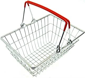 Early Education for Boys and Girls Adult Blue wiFndTu Premium Funny Children Miniature Metal Supermarket Shopping Basket Pretend Role Play Toy Pretend Play Toy