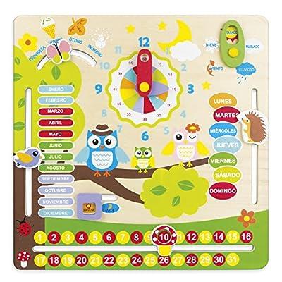ColorBaby - Juego educativo de madera, calendario diseño búhos (42737) de ColorBaby