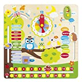 ColorBaby - Juego educativo de madera, calendario diseño búhos (42737)