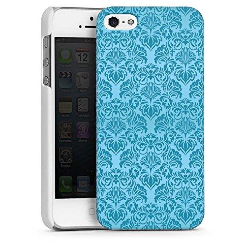 Apple iPhone 5 Housse étui coque protection Ornements Motif Motif CasDur blanc