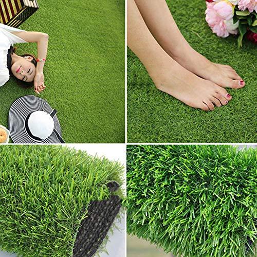 YEYE Synthetische Kunstrasen,high Density Grass Mat 20mm Mit Entwässerungsbohrungen Pet Turf Astroturf Teppich Für Indoor Outdoor -grün 200x500cm(79x197inch)