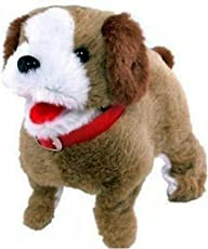 Fluffy Barking, Waging Tail, Walking and Jumping Puppy for Toddlers and Kids
