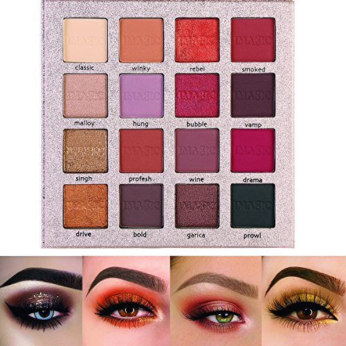 61zayY2UllL - Pretty Comy 16 Colors Eye Shadow Matte Shimmer Waterproof Durable Eyeshadow Palette Birthday Gifts