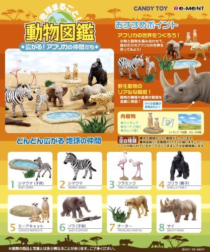 Input Box 8 individual fellow African spread 2nd picture book animal whole earth (candy toy) (japan import) by Ment
