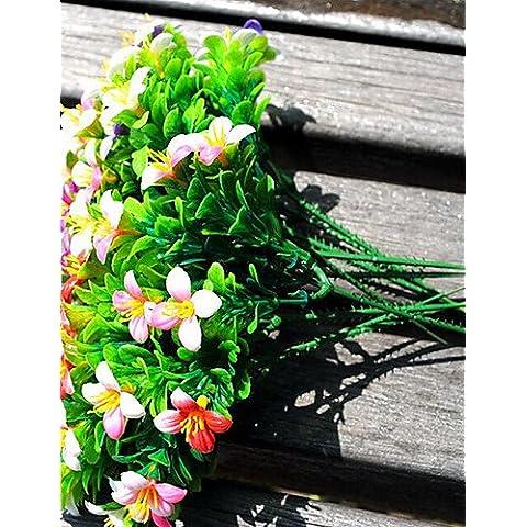 Las plantas plásticas GNWE Flores artificiales , rosa rosa#2567