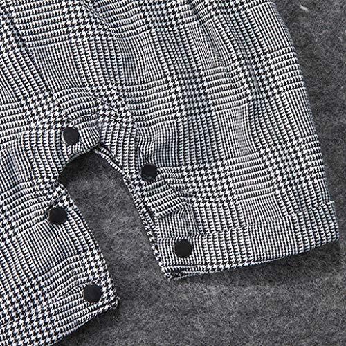 MHC~KJ Infant Baby Boys Short Sleeve Gentleman Romper Solid Print Jumpsuit Gray Image 5