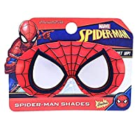 Costume Sunglasses Lil' Characters Spider Man Mask Sun-Staches Party Favors UV400, Red/Black