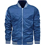 EKLENTSON Men's Jackets Lightweight Casual Bomber Jackets Spring Varsity Jacket Cycling Scooter Outwear Jackets and Coats