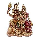 Golden Finish Hindu God Shiv Parivar Han...