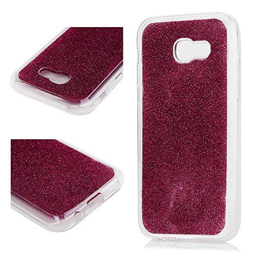 MAXFE.CO Schutzhülle Tasche Case für iPhone X PU Leder Flip Tasche Cover Prägung Einhorn Muster im Ständer Book Case / Kartenfach Grau Weiß