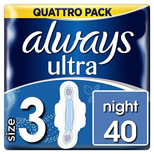 Always Ultra-Compresas noche alas tamaño 3, 40unidades