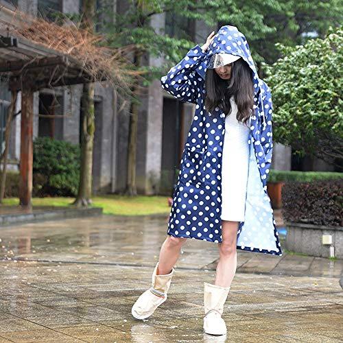 JZX Wanderponcho, Outdoorjacke für Wasserdichte Kleidung,X-Large,Blau