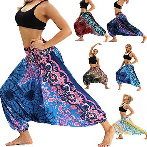 Kapian-e Damen Freizeithose Lose Weite Hose Thailand Indonesian Digital Print Böhmische Yogahosen Frauen Haremshose Yoga…