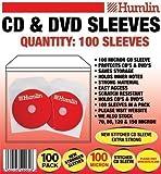100 x 100 Micron CD DVD SLEEVES BY HUMLIN
