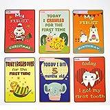 Baby Milestone Cards New Baby Shower Monther regalo scatola dei ricordi per neonati Monter padre fare foto immagini commemorare 32carte