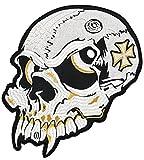 Totenkopf Skull Backpatch Rückenaufnäher ca. 24 x 26 cm