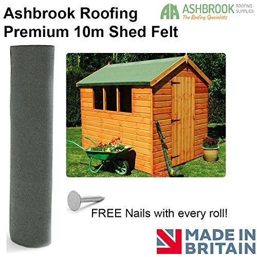 Premium 10m Shed Felt - Green