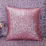 Aiserkly 40x40 cm Einfarbig Glitter Pailletten Dekokissen Fall Cafe Home Decor KissenbezügeHome Decor Dekokissen Kissenbezug Kissenhülle