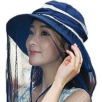 Moda El Sombrero del Visera del Sol Cubre el Sombrero de la Cara del Sol para Proteger contra el Casquillo del Mosquito.